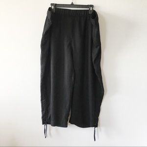 Addition Elle Wide Leg Black Capris